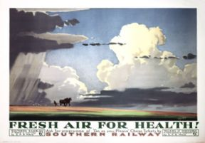 Fresh Air for Health. Southern Railway Vintage Travel poster by Herbert Alker Tripp. 1937